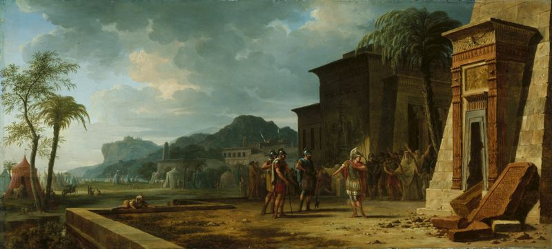 Alexander at the Tomb of Cyrus the Great - Pierre-Henri de Valenciennes , 1796