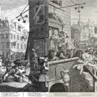 Beer Street Gin Lane, William Hogarth