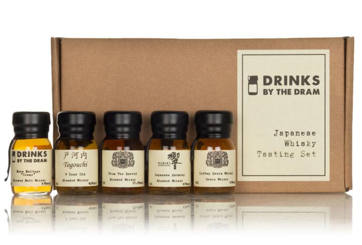 Japanese whisky tasting set, drinks by the dram