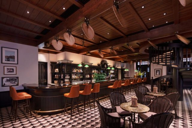 long bar, singapore sling, raffles