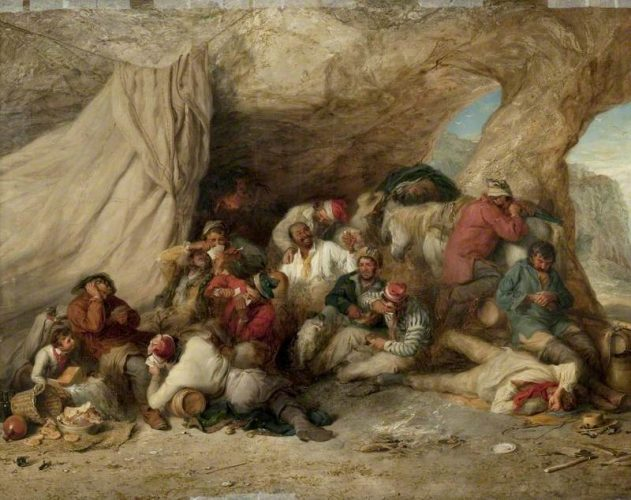 ''The Smugglers' Cave'' -  Henry Perlee Parker